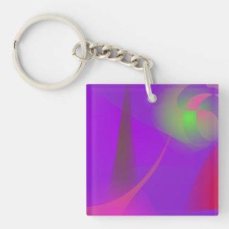 Weather Forecast Single-Sided Square Acrylic Keychain