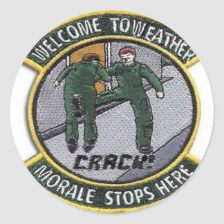Weather Forecaster Patch Classic Round Sticker