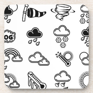 Weather Icons Beverage Coaster