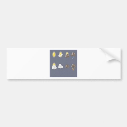 Weather icons design car bumper sticker