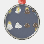 Weather icons design christmas tree ornaments