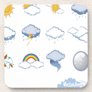 Weather icons design coasters