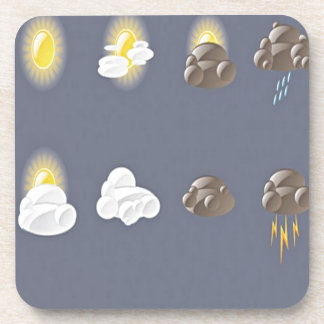 Weather icons design beverage coasters