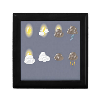 Weather icons design jewelry box