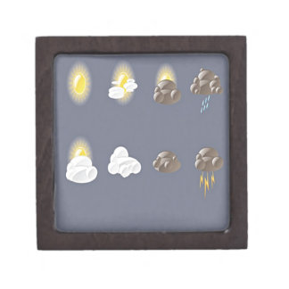 Weather icons design premium trinket box