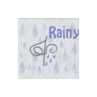 Weather in the house rainy stone magnet