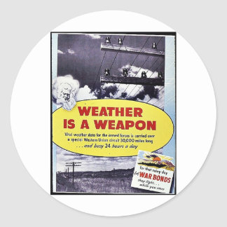 Weather Is A Weapon Round Stickers