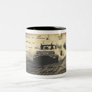 weather man needs a new job Two-Tone coffee mug