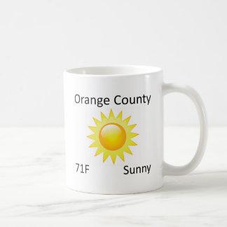 weather Orange County Classic White Coffee Mug
