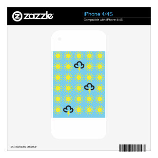 Weather pattern: Retro weather forecast symbols iPhone 4S Decal