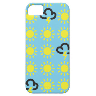 Weather pattern: Retro weather forecast symbols iPhone 5 Covers