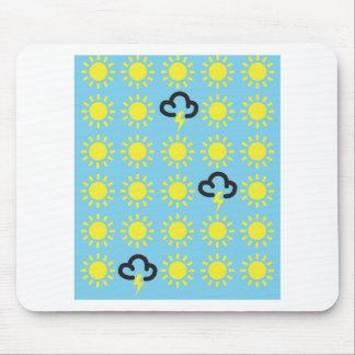 Weather pattern: Retro weather forecast symbols Mouse Pad