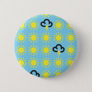 Weather pattern: Retro weather forecast symbols Pinback Button
