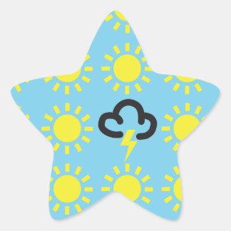 Weather pattern: Retro weather forecast symbols Star Sticker