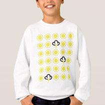 Weather pattern: Retro weather forecast symbols Sweatshirt