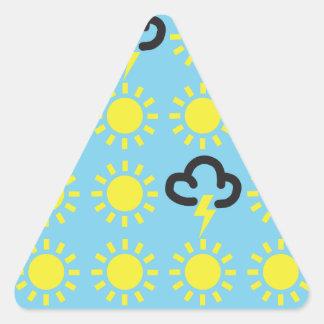 Weather pattern: Retro weather forecast symbols Triangle Sticker