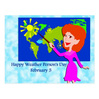 Weather Person's Day February 5 Post Card
