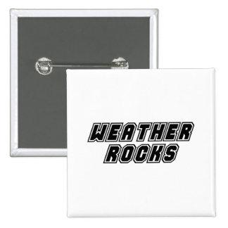 Weather Rocks Pinback Button