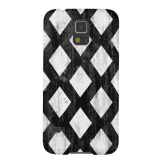 Weather Seamless Pattern, Diamonds Black and White Galaxy S5 Case