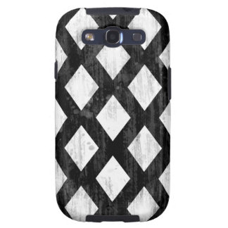 Weather Seamless Pattern, Diamonds Black and White Galaxy SIII Case