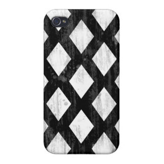Weather Seamless Pattern, Diamonds Black and White iPhone 4/4S Cover