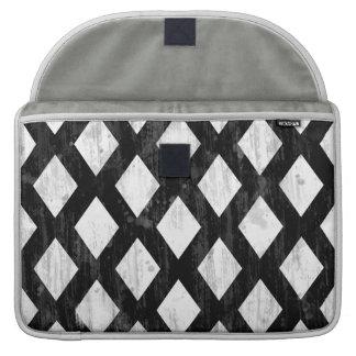 Weather Seamless Pattern, Diamonds Black and White MacBook Pro Sleeves