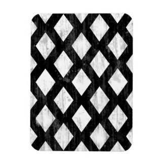 Weather Seamless Pattern, Diamonds Black and White Magnet