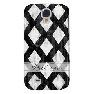 Weather Seamless Pattern, Diamonds Black and White Samsung S4 Case
