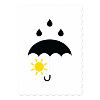 Weather sunny raining day, Custom background color Card