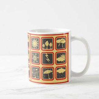 Weather Symbols Classic White Coffee Mug