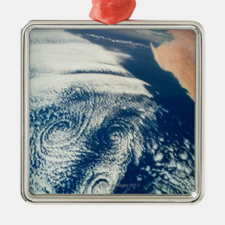 Weather Systems Above Earth 2 Christmas Tree Ornaments