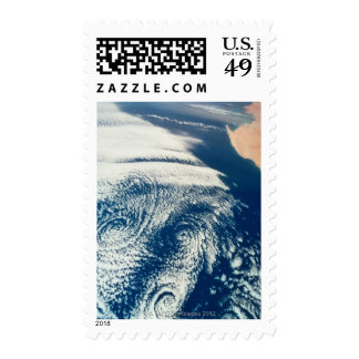 Weather Systems Above Earth 2 Postage Stamps
