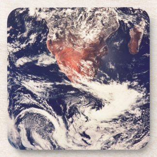 Weather Systems Above Earth 3 Beverage Coaster