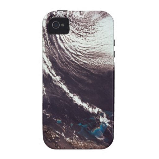 Weather Systems Above Earth Vibe iPhone 4 Cases