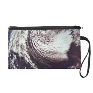 Weather Systems Above Earth Wristlet Purse