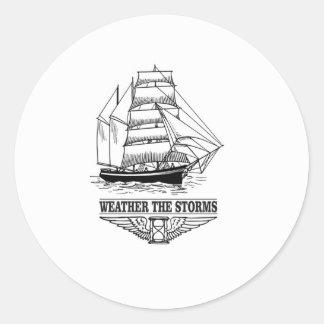 weather the storm glory classic round sticker