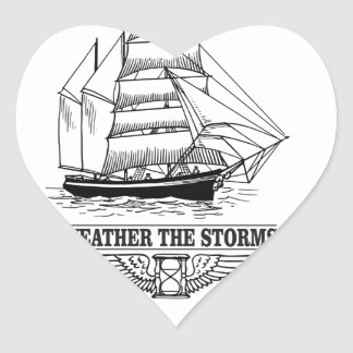 weather the storm glory heart sticker