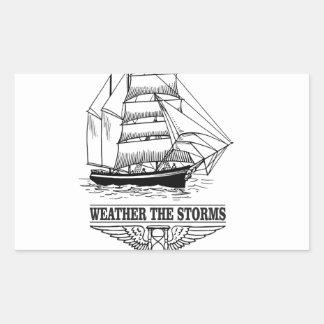 weather the storm glory rectangular sticker