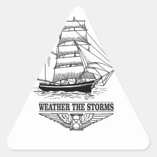 weather the storm glory triangle sticker