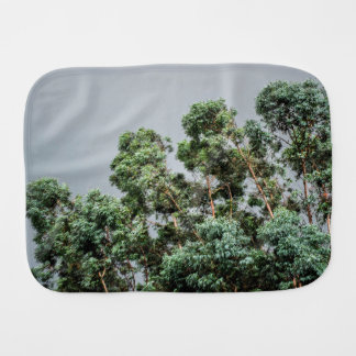 Weather Themed, A Bunch Of Tall Green Trees Waving Baby Burp Cloth