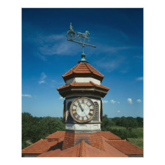 Weather Vane and Clock Tower Poster