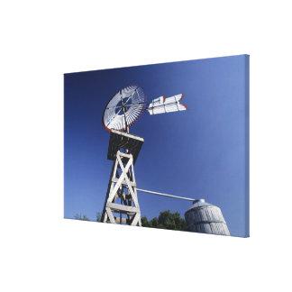 Weather vane and water tank, San Antonio, Texas, Canvas Print