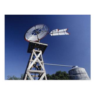 Weather vane and water tank, San Antonio, Texas, Postcard