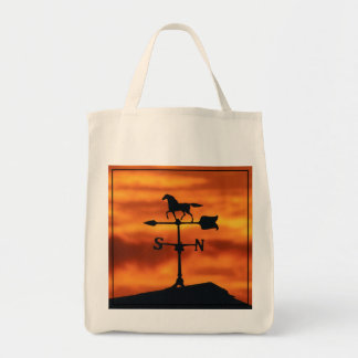 Weather Vane at Sunset Tote Bag