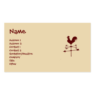 Weather Vane Business Card