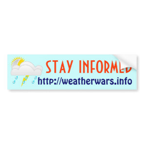 Weather wars bumper sticker