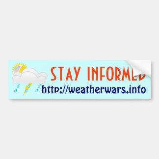 Weather wars bumper sticker