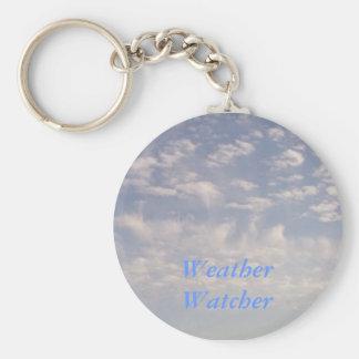 Weather Watcher Basic Round Button Keychain