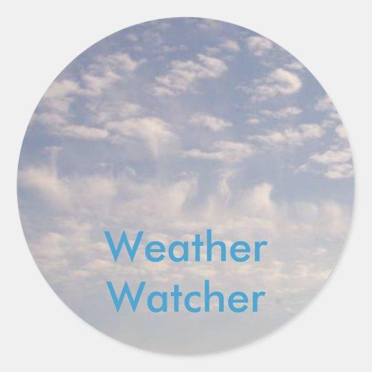 Weather Watcher Classic Round Sticker