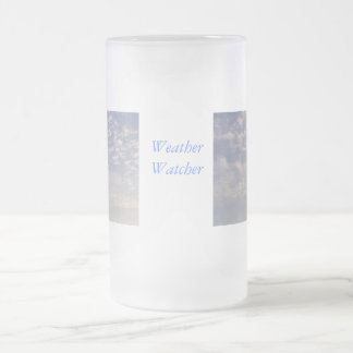 Weather Watcher Frosted Glass Beer Mug
